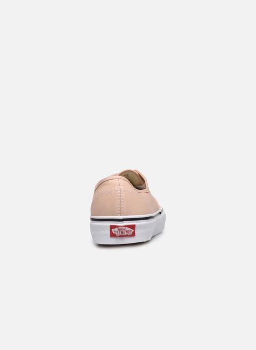 Baskets Vans Authentic Beige vue droite