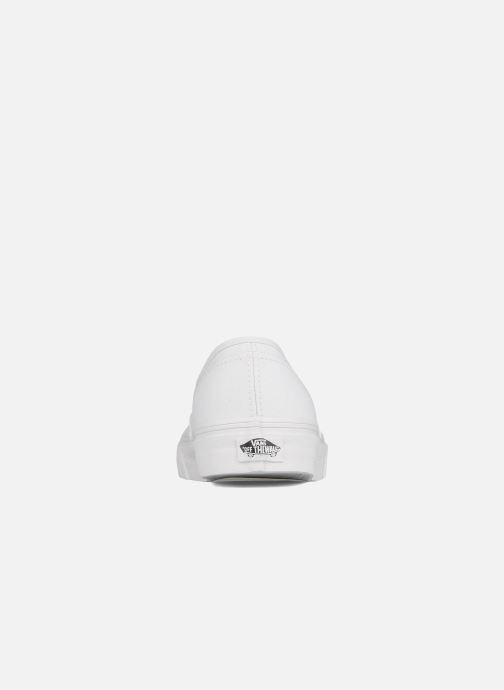Deportivas Vans Authentic Blanco vista lateral derecha