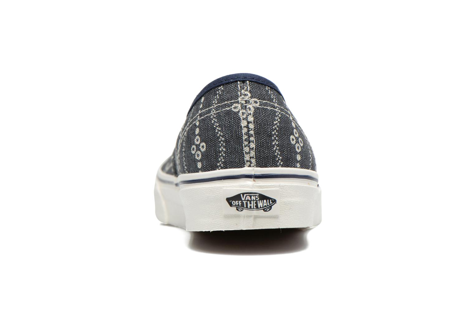 Baskets Vans Authentic Bleu vue droite