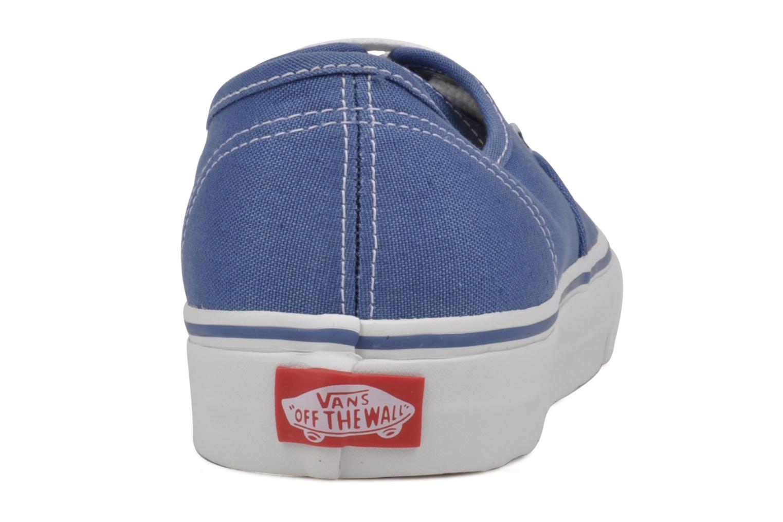 Baskets Vans Authentic Bleu vue droite
