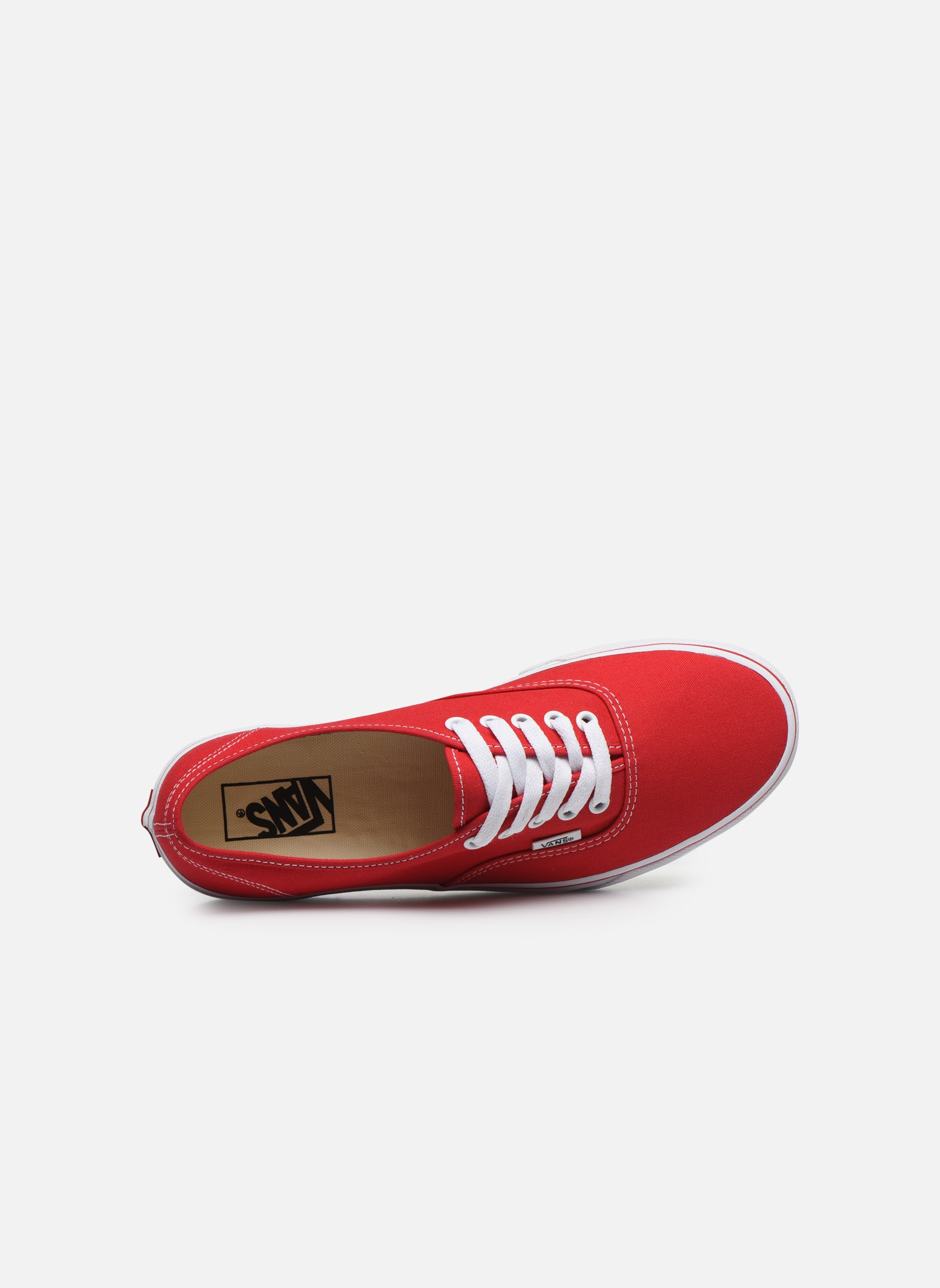 Baskets Vans Authentic Rouge vue gauche