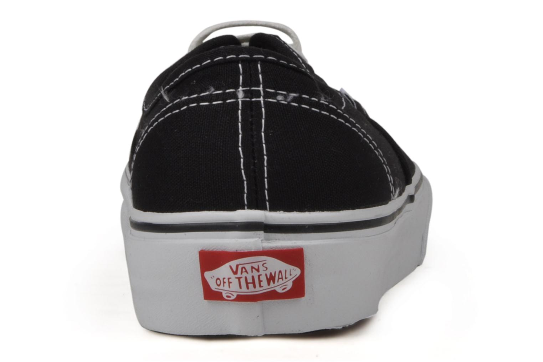 Sneaker Vans Authentic schwarz ansicht von rechts