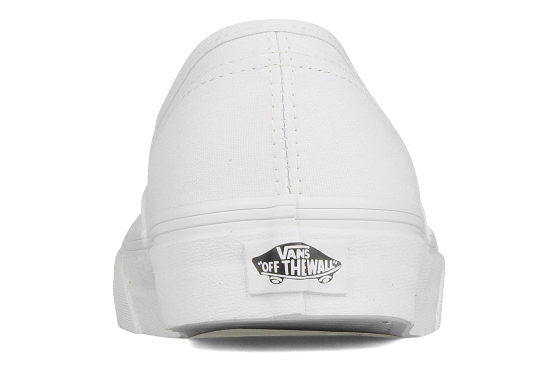 Deportivas Vans Authentic Blanco vista lateral derecha