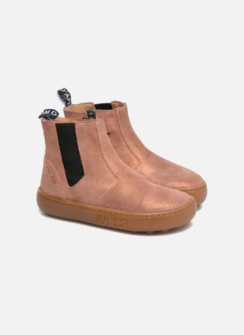 Bottines et boots Pom d Api Walk Jodpur Basic Rose vue 3/4