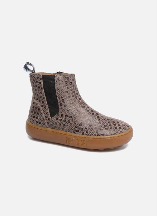 Ankelstøvler Pom d Api Walk Jodpur Basic Brun detaljeret billede af skoene