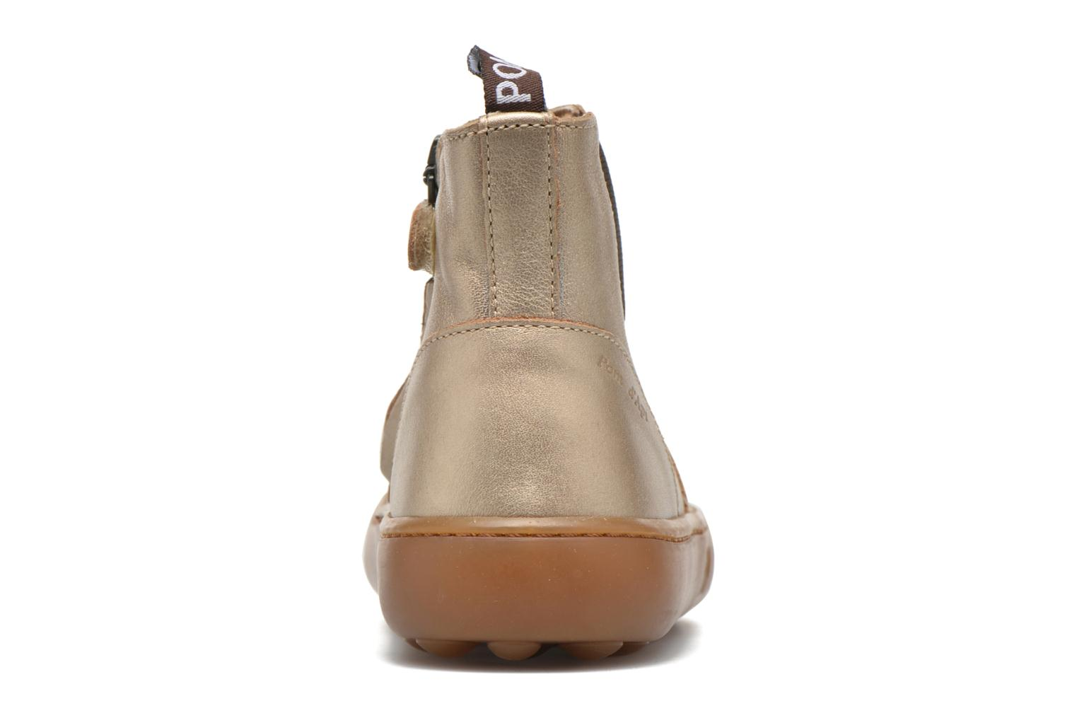 Ankle boots Pom d Api Walk Jodpur Basic Bronze and Gold view from the right