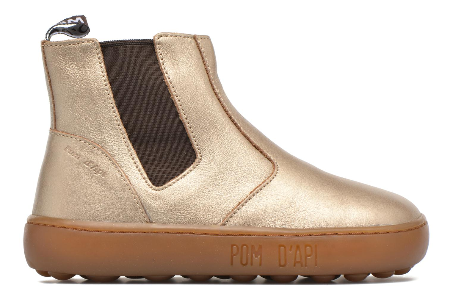Ankle boots Pom d Api Walk Jodpur Basic Bronze and Gold back view