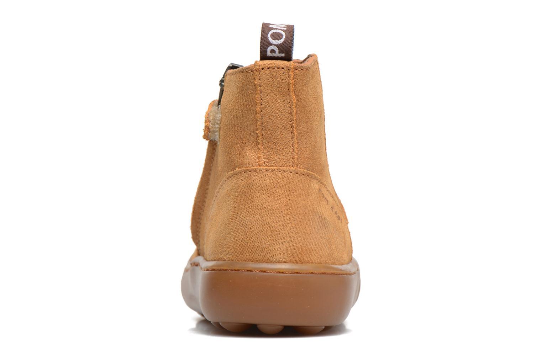 Bottines et boots Pom d Api Walk Jodpur Basic Marron vue droite