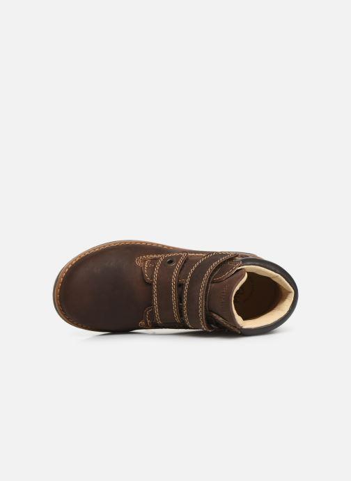 Zapatos con velcro Primigi Aspy Marrón vista lateral izquierda