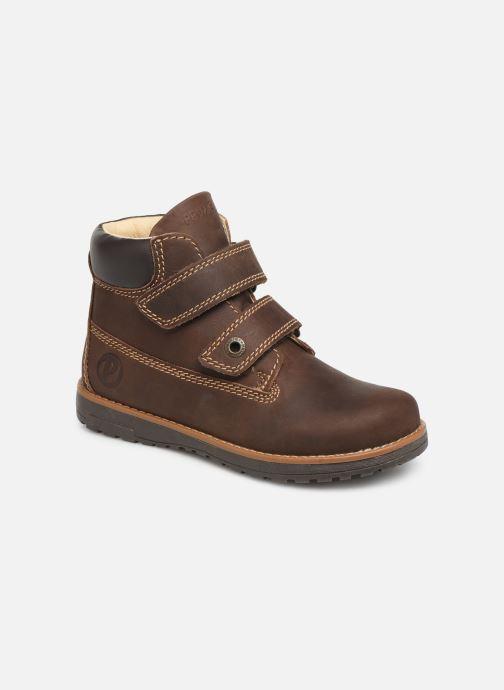 Chaussures à scratch Primigi Aspy Marron vue détail/paire