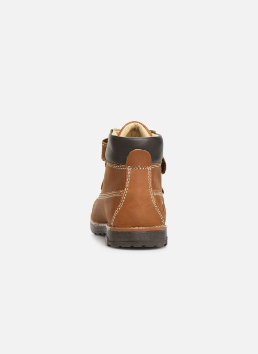 Chaussures à scratch Primigi Aspy Marron vue droite