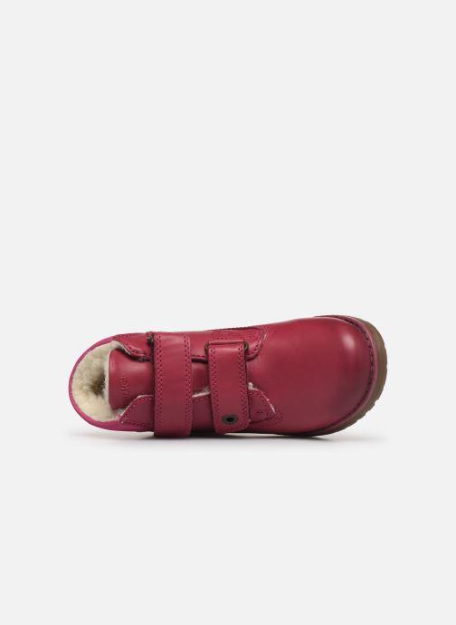Zapatos con velcro Primigi Aspy Rosa vista lateral izquierda