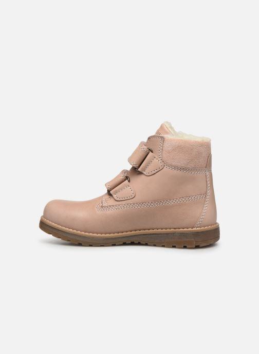 Zapatos con velcro Primigi Aspy Rosa vista de frente