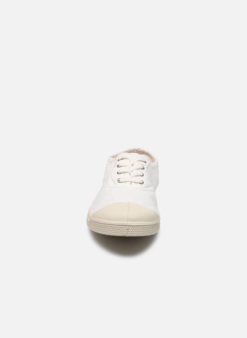 Baskets Bensimon Tennis Lacets H Blanc vue portées chaussures