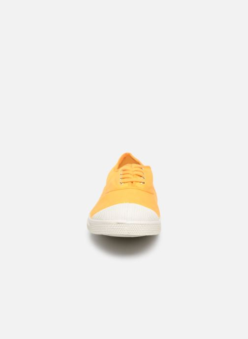 Baskets Bensimon Tennis Lacets H Doublon Jaune vue portées chaussures