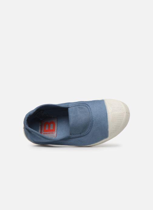Baskets Bensimon Tennis Elastique E Bleu vue gauche
