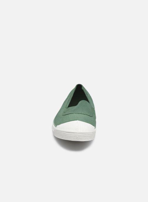 Baskets Bensimon Tennis Elastique E Vert vue portées chaussures