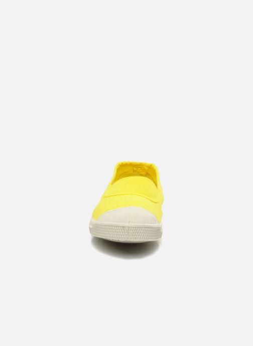Baskets Bensimon Tennis Elastique E Jaune vue portées chaussures