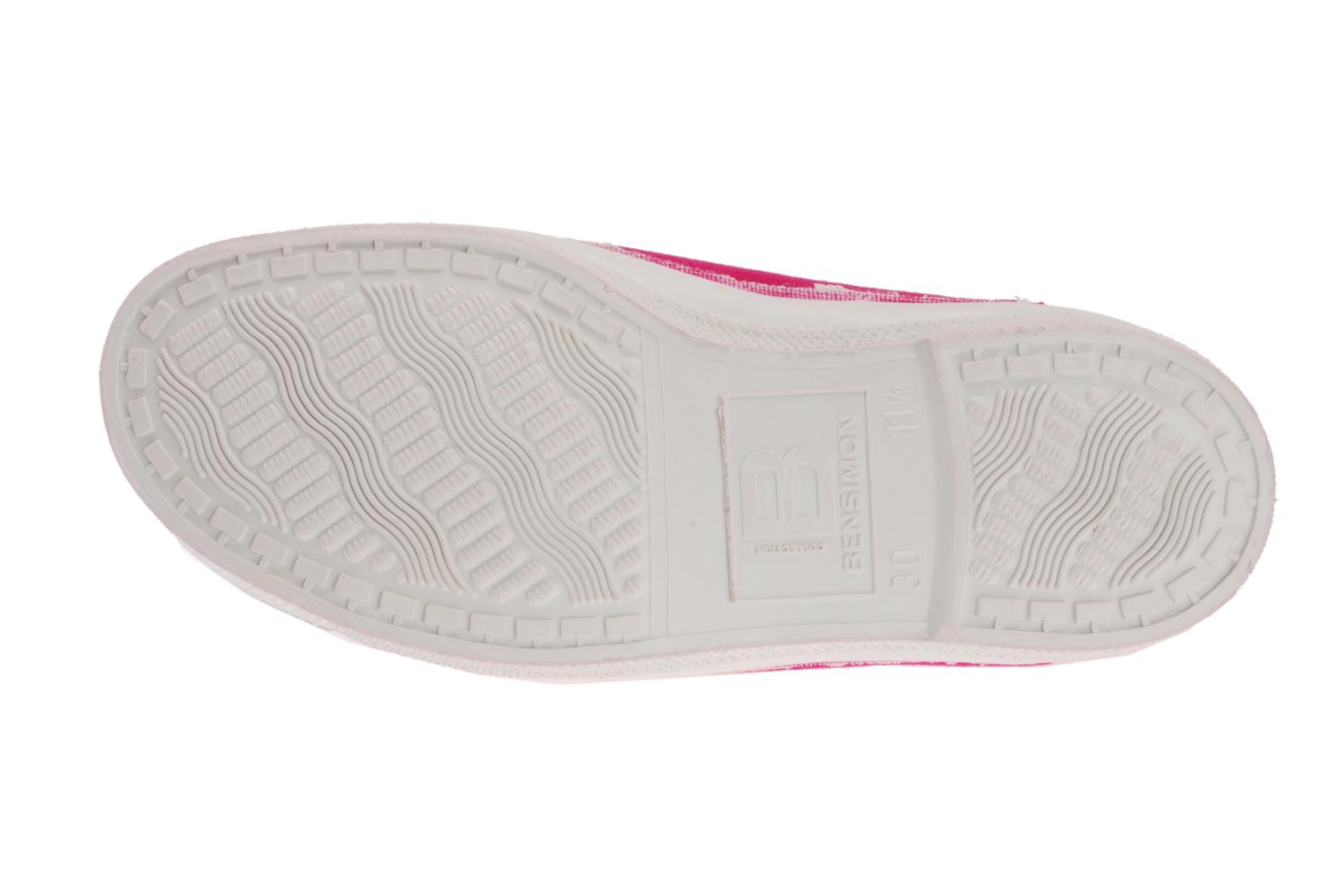 Baskets Bensimon Tennis Elastique E Rose vue haut
