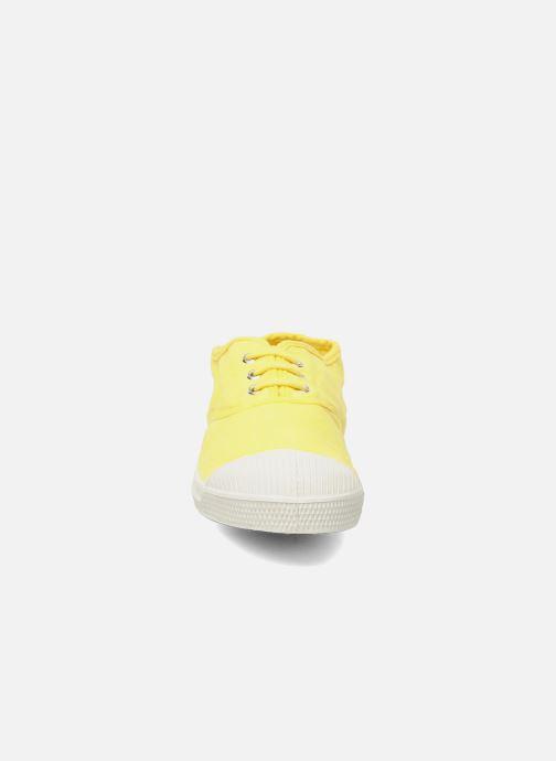 Sneaker Bensimon Tennis Lacets E gelb schuhe getragen