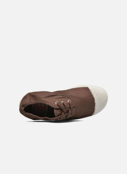 Baskets Bensimon Tennis Lacets E Marron vue gauche
