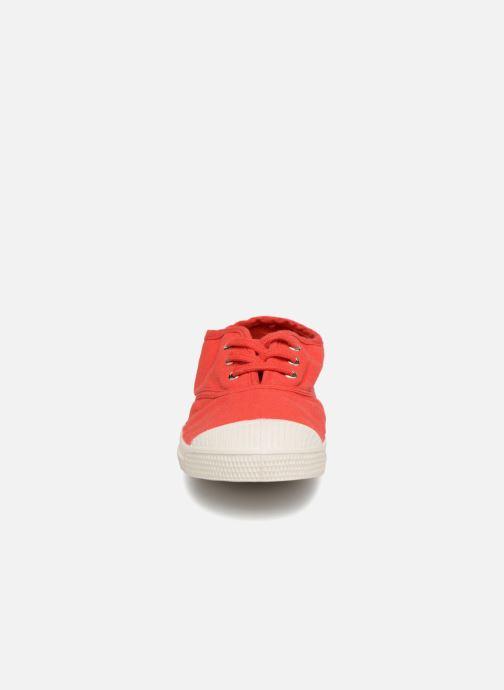 Baskets Bensimon Tennis Lacets E Rouge vue portées chaussures