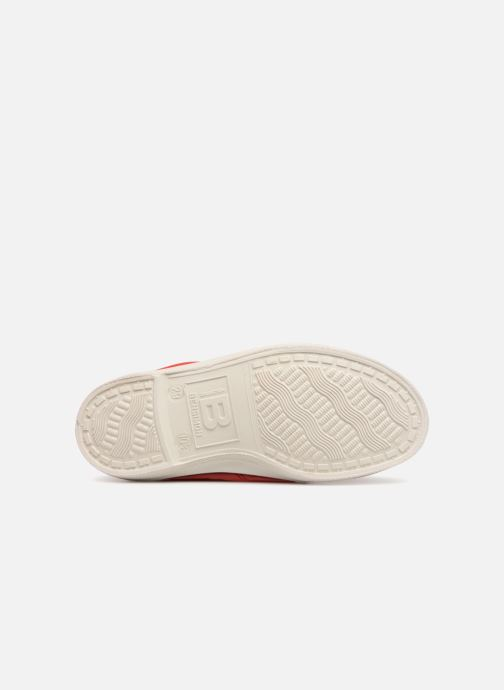 Baskets Bensimon Tennis Lacets E Rouge vue haut