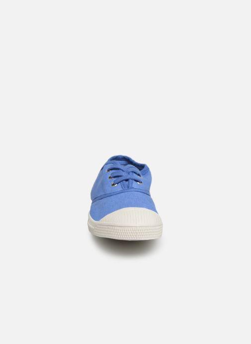 Baskets Bensimon Tennis Lacets E Bleu vue portées chaussures