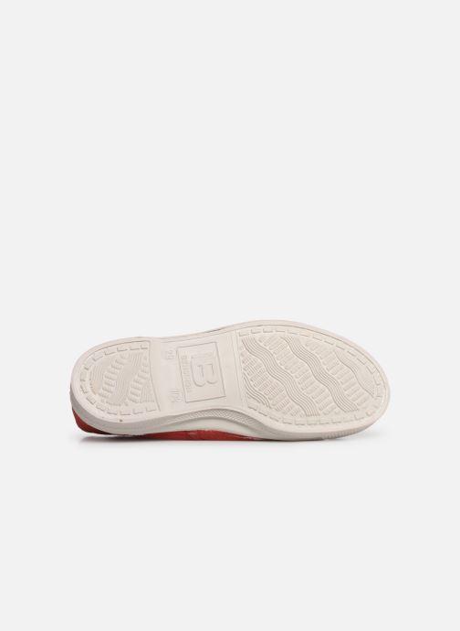 Baskets Bensimon Tennis Lacets E Rouge vue haut