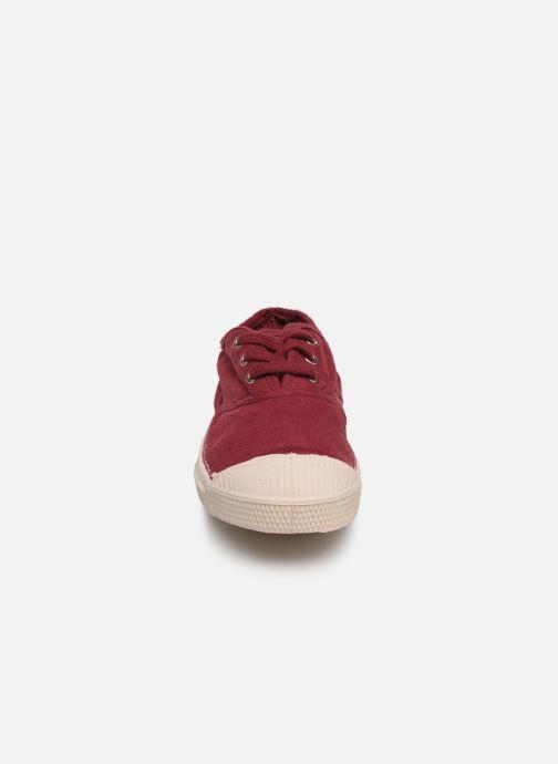 Baskets Bensimon Tennis Lacets E Bordeaux vue portées chaussures