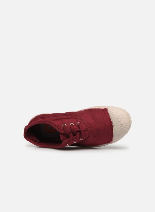 Trainers Bensimon Tennis Lacets E Burgundy view from the left
