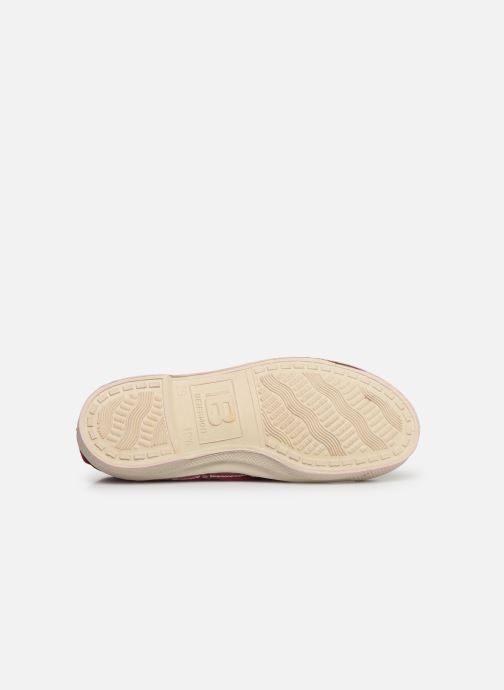 Trainers Bensimon Tennis Lacets E Burgundy view from above