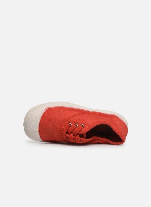Sneaker Bensimon Tennis Lacets E rot ansicht von links