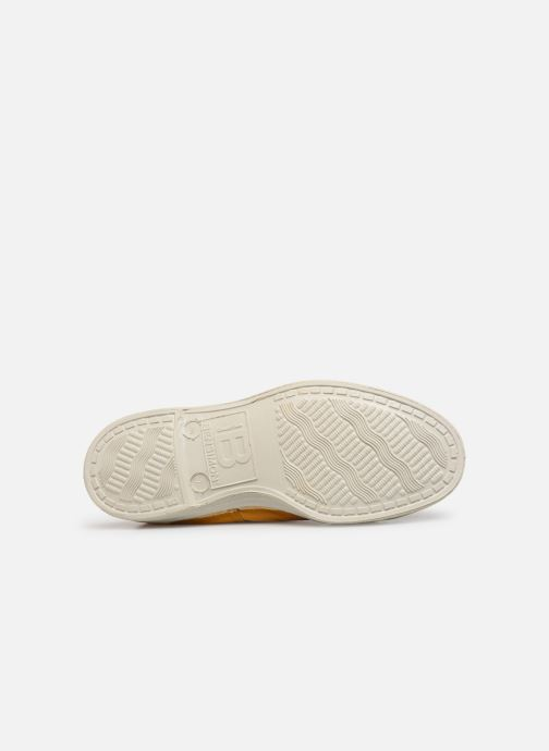 Baskets Bensimon Tennis Lacets E Jaune vue haut