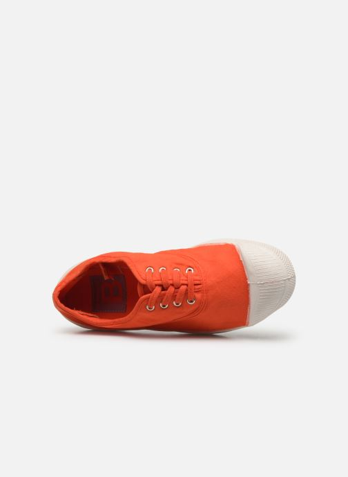 Baskets Bensimon Tennis Lacets E Orange vue gauche