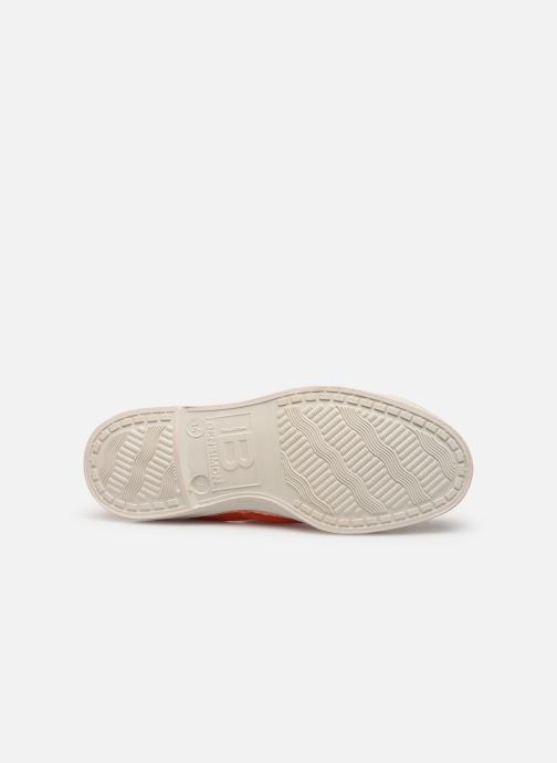 Baskets Bensimon Tennis Lacets E Orange vue haut