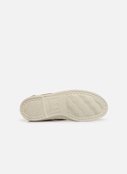 Baskets Bensimon Tennis Lacets E Marron vue haut