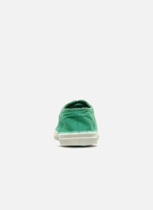 Trainers Bensimon Tennis Lacets E Green view from the right