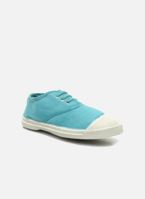 sale retailer cb847 afe7c Baskets Bensimon Tennis Lacets E Bleu vue détail paire