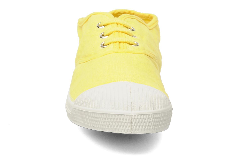 Baskets Bensimon Tennis Lacets E Jaune vue portées chaussures