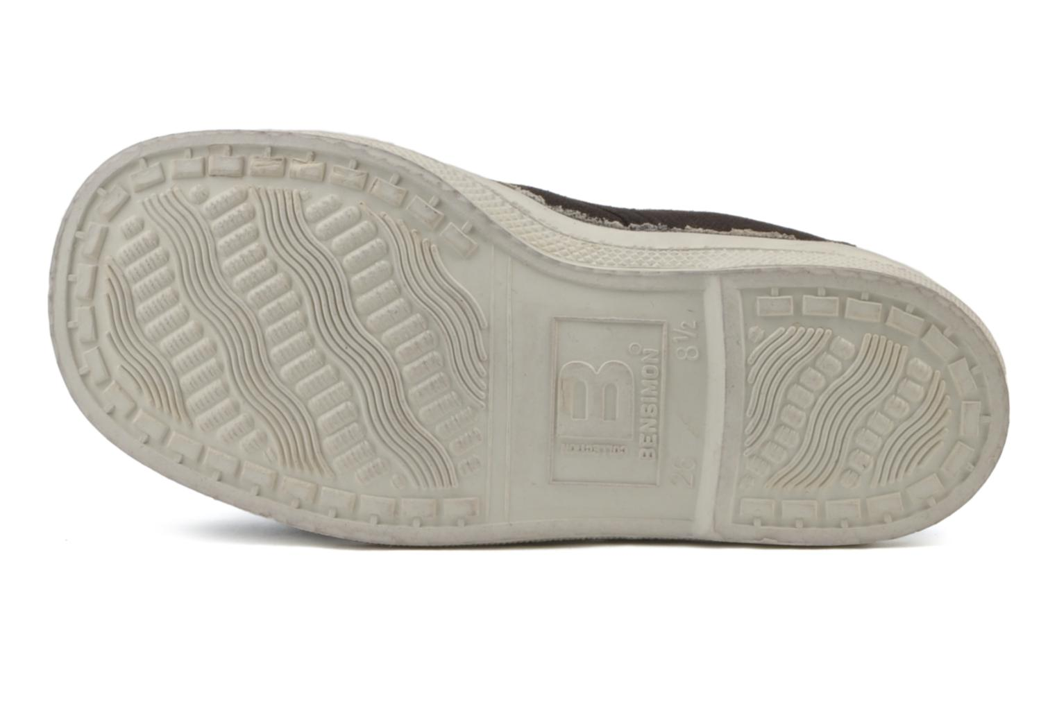 Trainers Bensimon Tennis Lacets E Brown view from above