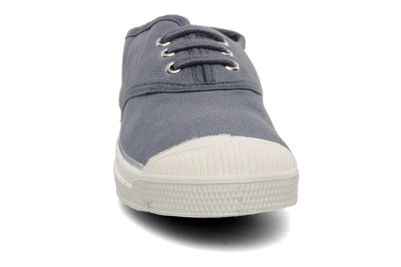 Baskets Bensimon Tennis Lacets E Gris vue portées chaussures