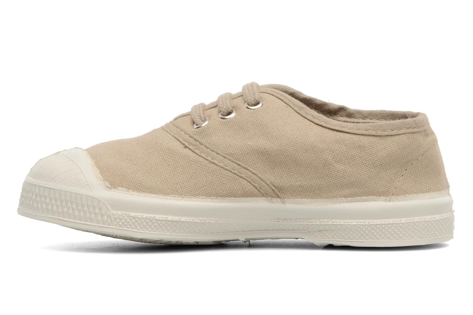 Baskets Bensimon Tennis Lacets E Beige vue face