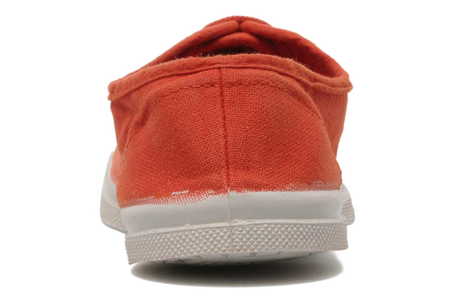 Baskets Bensimon Tennis Lacets E Orange vue droite