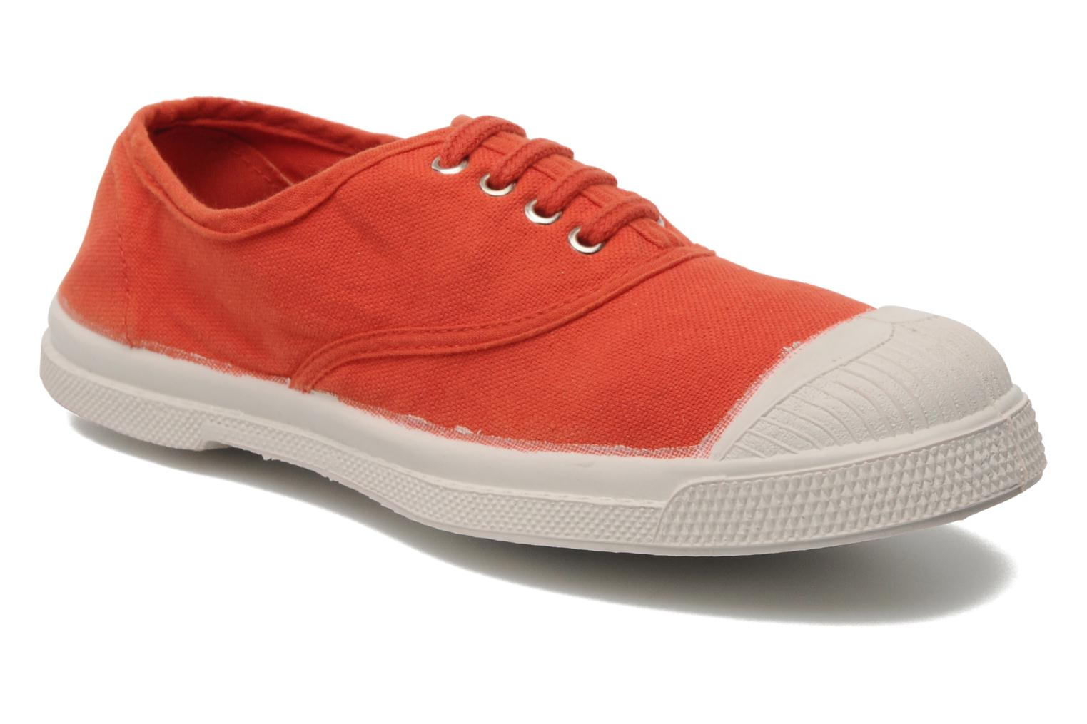 Baskets Bensimon Tennis Lacets E Orange vue détail/paire