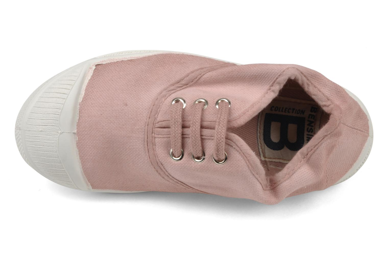Baskets Bensimon Tennis Lacets E Rose vue gauche