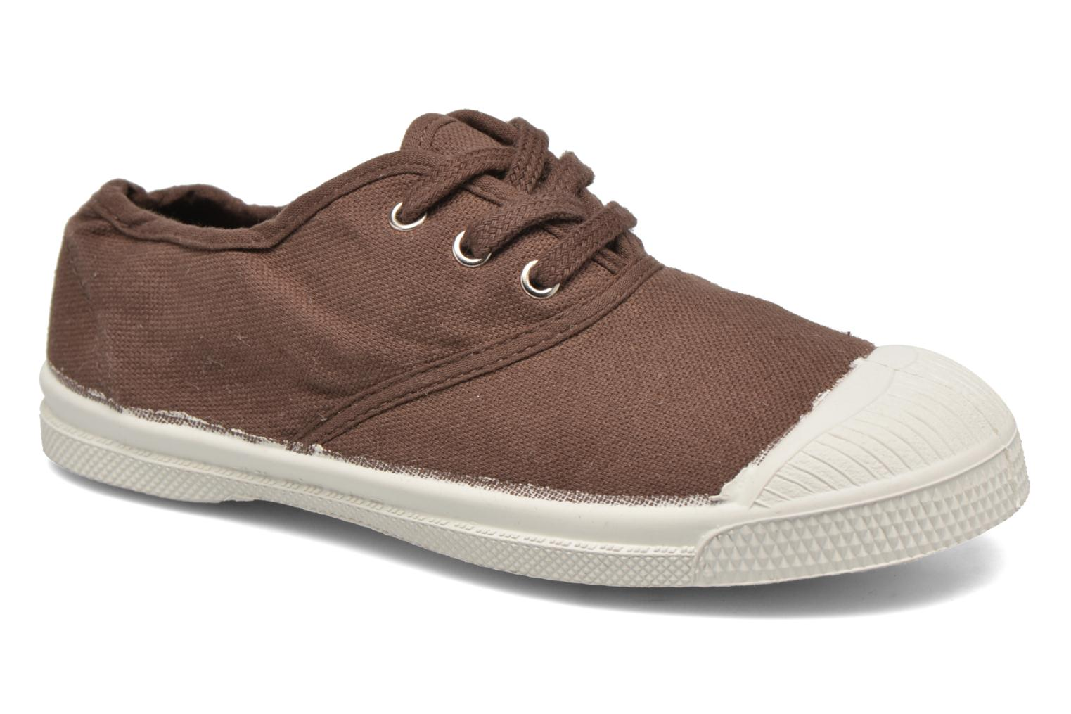 Trainers Bensimon Tennis Lacets E Brown detailed view/ Pair view
