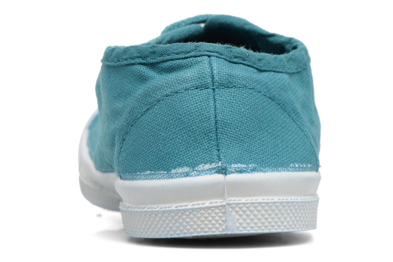 Baskets Bensimon Tennis Lacets E Bleu vue droite