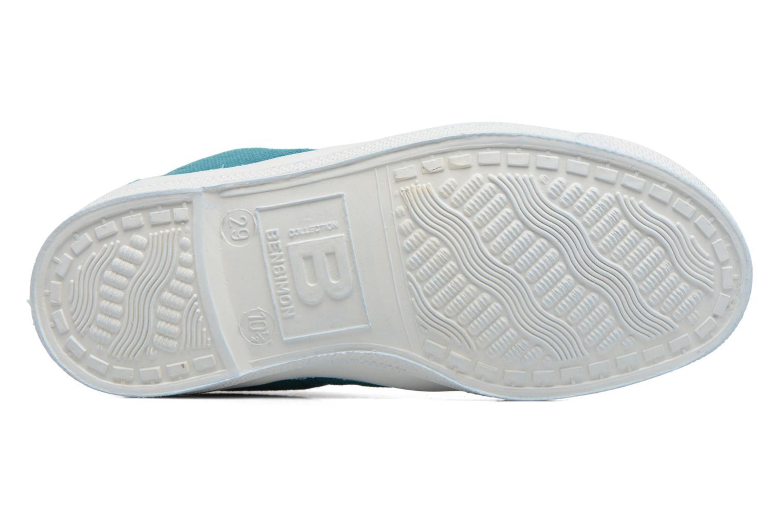 Baskets Bensimon Tennis Lacets E Bleu vue haut