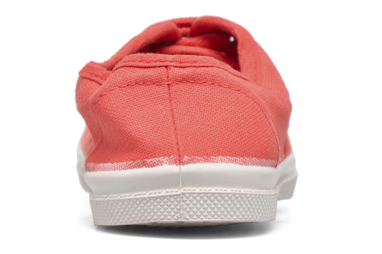 Deportivas Bensimon Tennis Lacets E Rojo vista lateral derecha